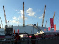 North Greenwich Arena från utsidan