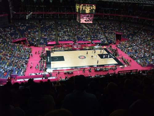 Basket i North Greenwich Arena